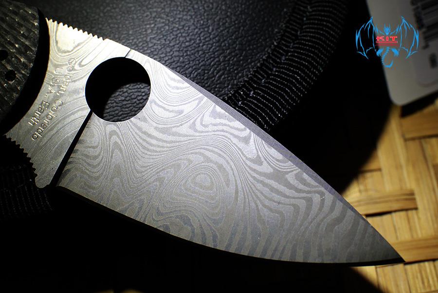 Фото 7 - Складной нож Native 5 40th Anniversary Spyderco C41CF40TH, сталь Thor™ Pattern Damasteel®, рукоять карбон