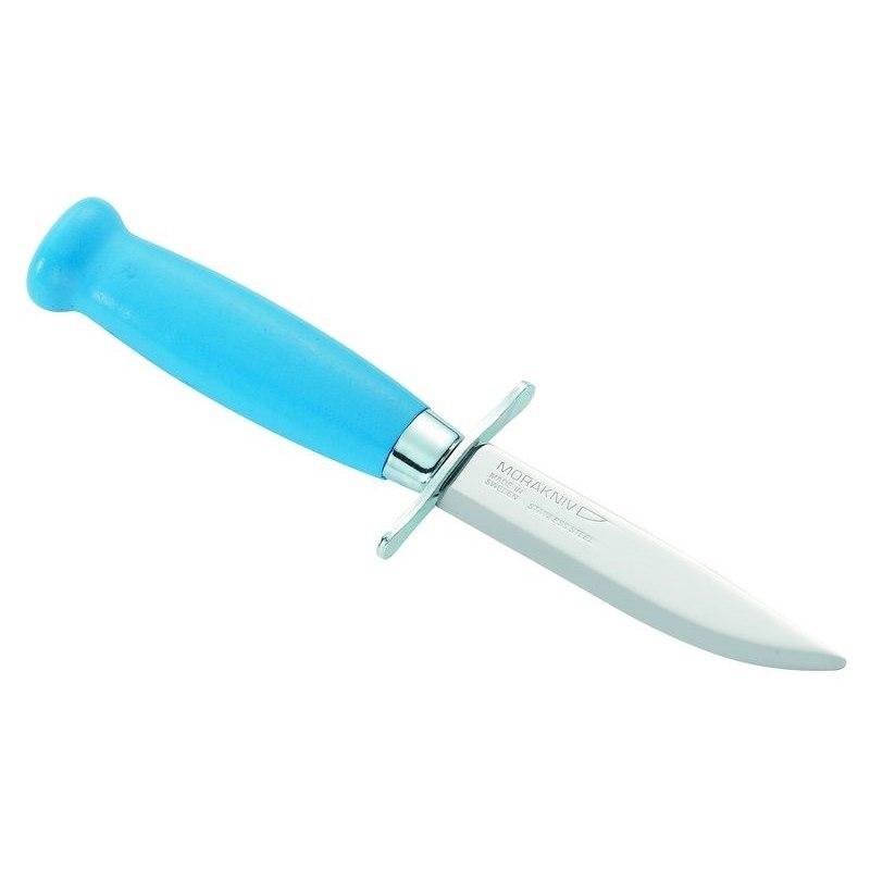 Фото 7 - Нож с фиксированным лезвием Morakniv Scout 39 Safe Blue, сталь Sandvik 12С27, рукоять береза, синий