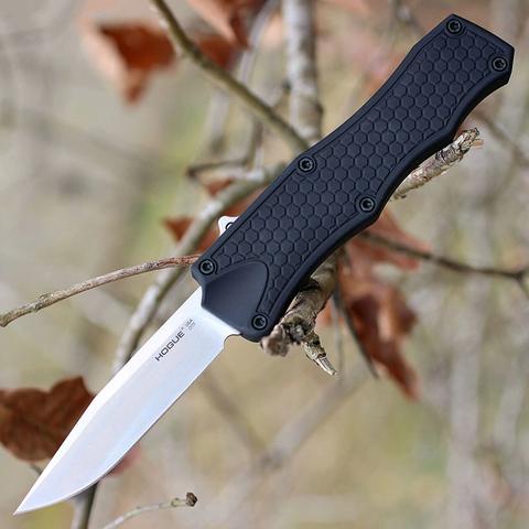 Нож складной Hogue OTF Auto, сталь CPM® 154, рукоять алюминиевый сплав, чёрный. Вид 3