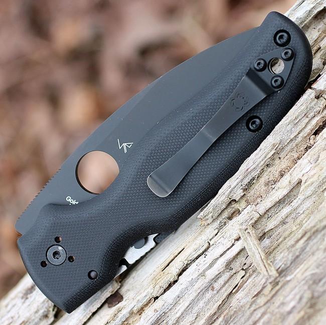 Фото 8 - Складной нож Spyderco Shaman 229GPBK, сталь CPM® S30V™ Black DLC Coated Plain, рукоять стеклотекстолит G10, чёрный