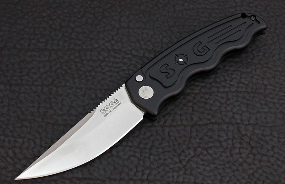 Складной автоматический нож SOG-TAC ST01, сталь Aus 8, рукоять алюминий