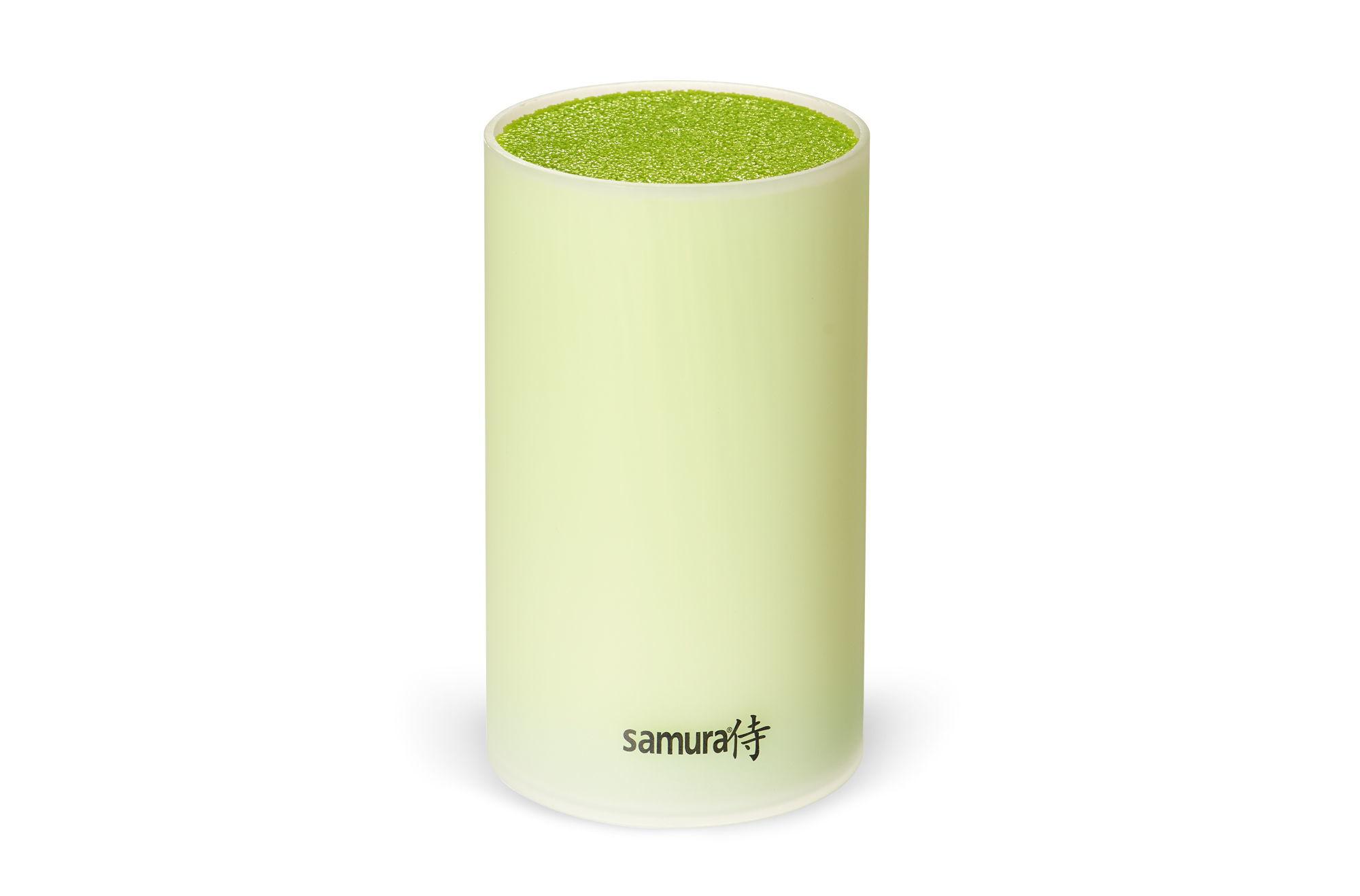Фото - Подставка универсальная для ножей Samura, 180мм, пластик, матовая (салатовая) подставка для ножей универсальная samura металл kbm 100 kbm 100 k kbm 100y