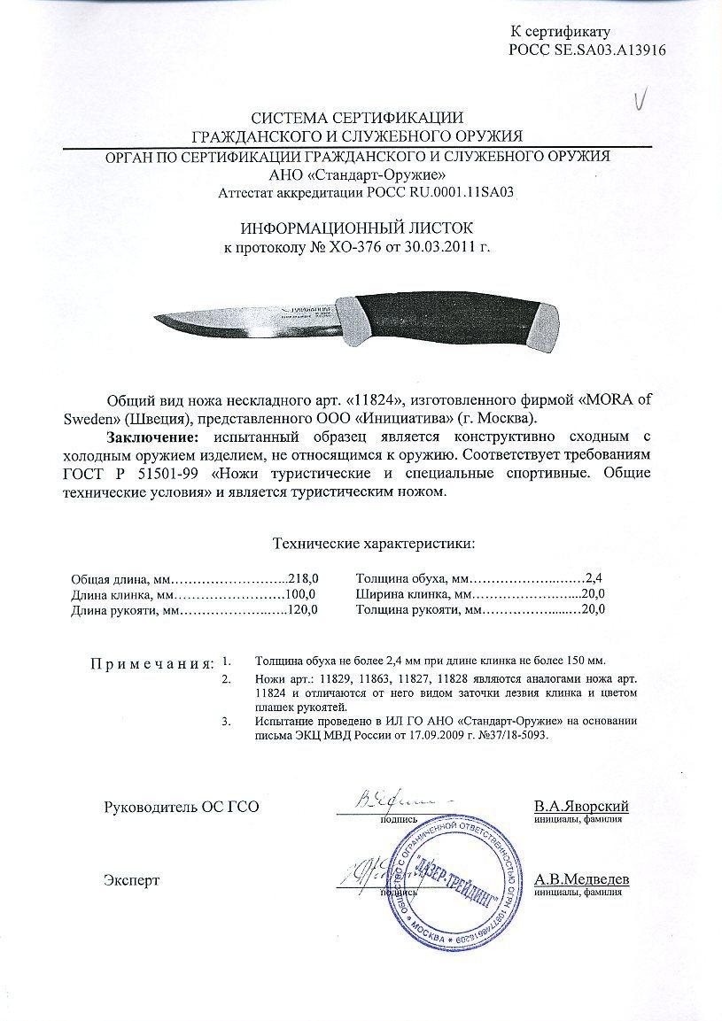 Фото 8 - Нож с фиксированным лезвием Morakniv Companion F Rescue, сталь Sandvik 12С27, рукоять резина/пластик