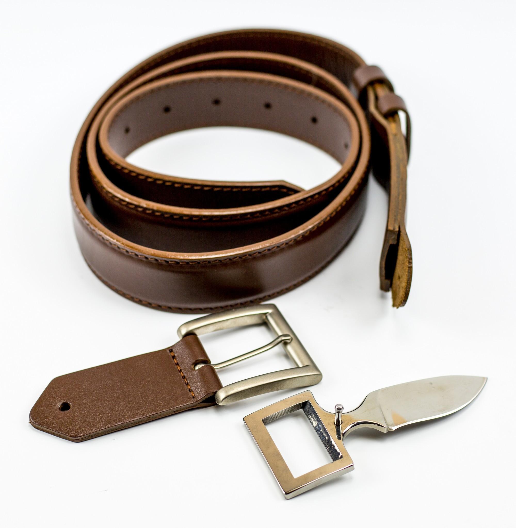 Кожаный нож-ремень Телохранитель, с дополнительной пряжкой турник с регулируемой длиной воркаут