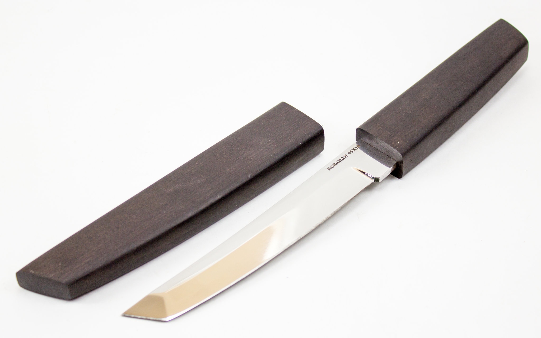 Нож Танто, сталь 95х18, деревянные ножны от Кузница Коваль