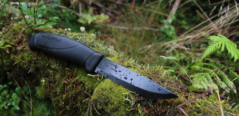 Фото 10 - Нож с фиксированным лезвием Morakniv Companion Tactical BlackBlade, сталь Sandvik 12С27, рукоять эластомер