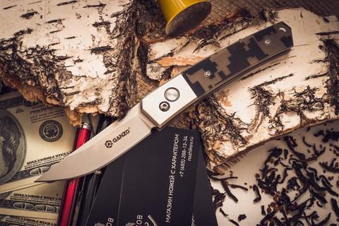 Складной нож Ganzo G7361, камуфляж - Nozhikov.ru