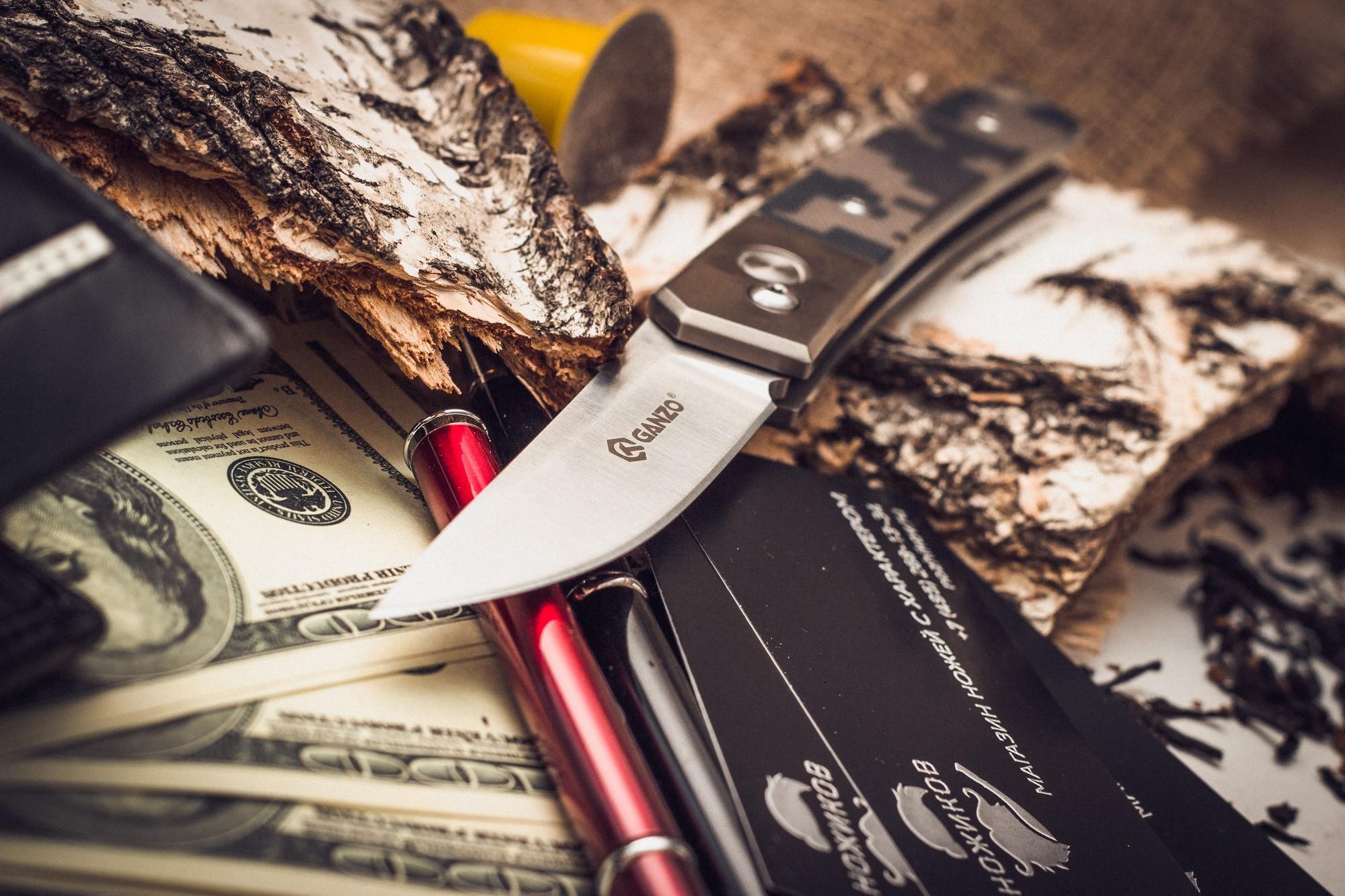 Фото 5 - Складной нож Ganzo G7361, камуфляж