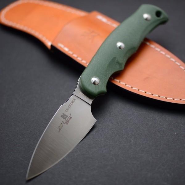 Туристический нож G.Sakai, Camper En Fixed, сталь ZDP-189, цвет Green G-10, в подарочной коробке