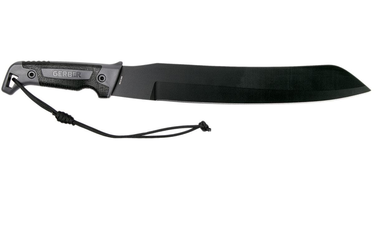Фото 4 - Мачете Gerber - Gator Golok Machete, сталь 65MN Carbon Steel Black Finish, рукоять ударопрочный пластик
