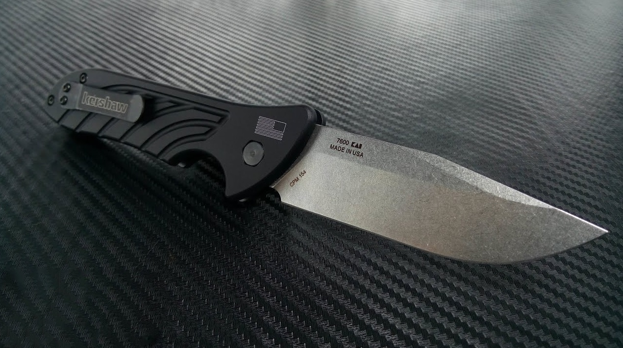 Фото 7 - Полуавтоматический складной нож Launch 5 KERSHAW 7600, сталь клинка Crucible CPM® 154, рукоять анодированный алюминий черного цвета