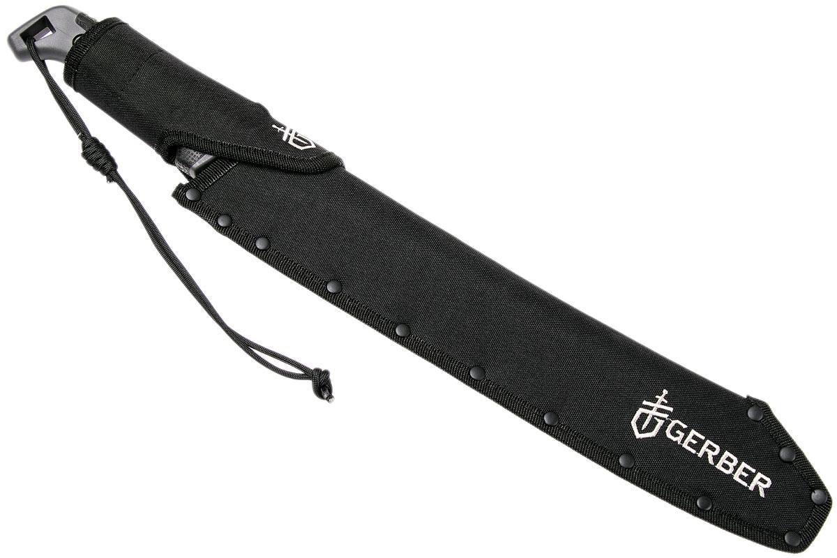 Фото 10 - Мачете Gerber - Gator Golok Machete, сталь 65MN Carbon Steel Black Finish, рукоять ударопрочный пластик