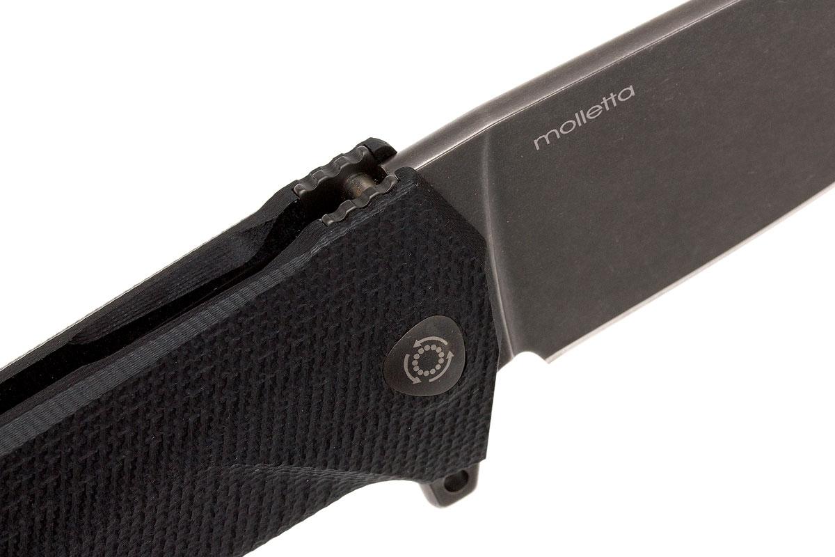 Фото 14 - Нож складной LionSteel KUR BBK G10 Black Flipper, сталь Stonewashed & PVD-Coated Uddeholm Sleipner®, стеклотекстолит, чёрный от Lion Steel