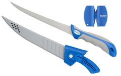 Филейный нож в чехле + компактная точилка