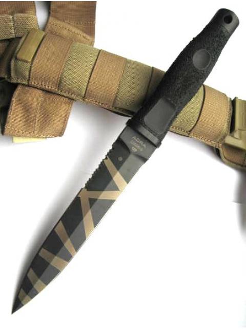 Фото 5 - Нож с фиксированным клинком Extrema Ratio Adra Operativo Desert Warfare - Laser Engraving (Double Edge), сталь Bhler N690, рукоять полиамид