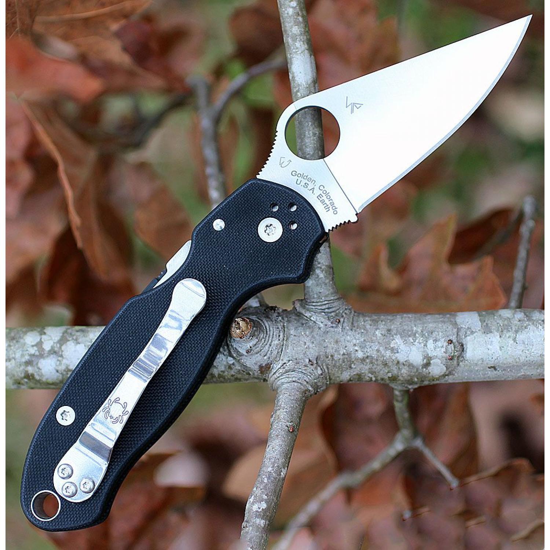 Фото 7 - Нож складной Para™ 3 Lightweight Spyderco 223GP, сталь Crucible CPM® S30V™ Satin Plain, рукоять стеклотекстолит G-10 чёрный