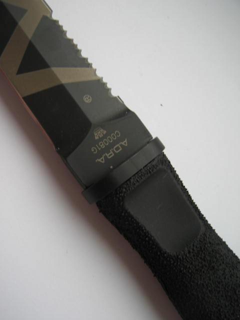Фото 8 - Нож с фиксированным клинком Extrema Ratio Adra Operativo Desert Warfare - Laser Engraving (Double Edge), сталь Bhler N690, рукоять полиамид