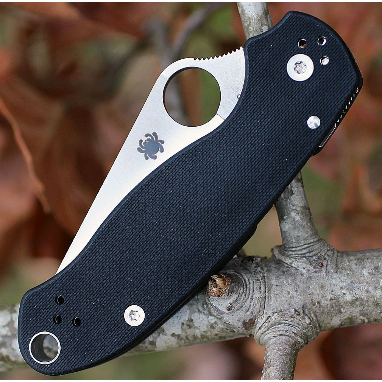Фото 8 - Нож складной Para™ 3 Lightweight Spyderco 223GP, сталь Crucible CPM® S30V™ Satin Plain, рукоять стеклотекстолит G-10 чёрный
