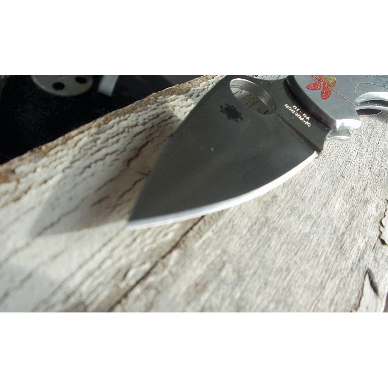 Фото 14 - Складной нож Dragonfly 2 Tattoo - Spyderco 28PT, сталь VG-10 Satin Plain, рукоять нержавеющая сталь