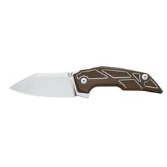 Складной нож Fox Phoenix, сталь M390, рукоять титановый сплав 6Al4V, коричневый, фото 2