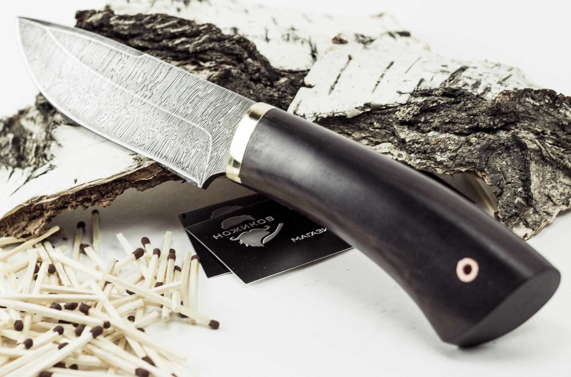 Фото 7 - Нож Старатель, дамасская сталь от Промтехснаб