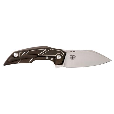 Складной нож Fox Phoenix, сталь M390, рукоять титановый сплав 6Al4V, коричневый. Вид 4