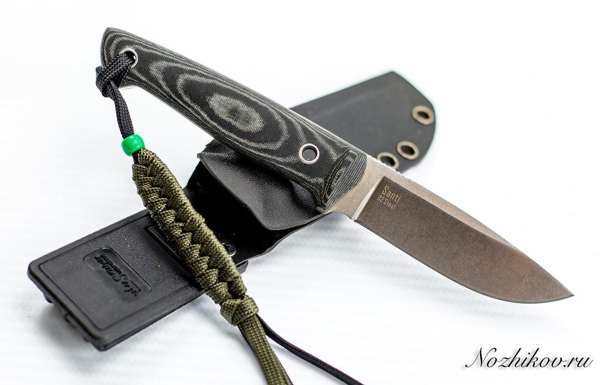 Нож Santi D2 SW, микарта, Kizlyar Supreme нож santi d2 sw дерево кизляр