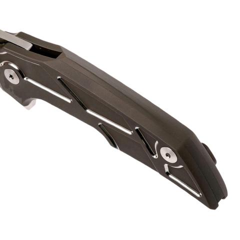 Складной нож Fox Phoenix, сталь M390, рукоять титановый сплав 6Al4V, коричневый. Вид 6