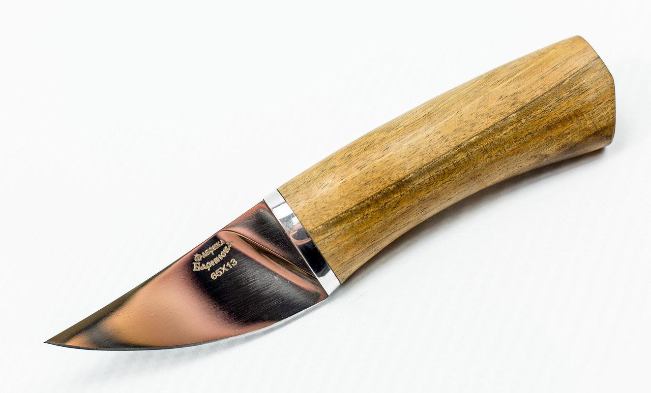 Нож Малыш-2, сталь 65Х13, рукоять орех от Фабрика Баринова