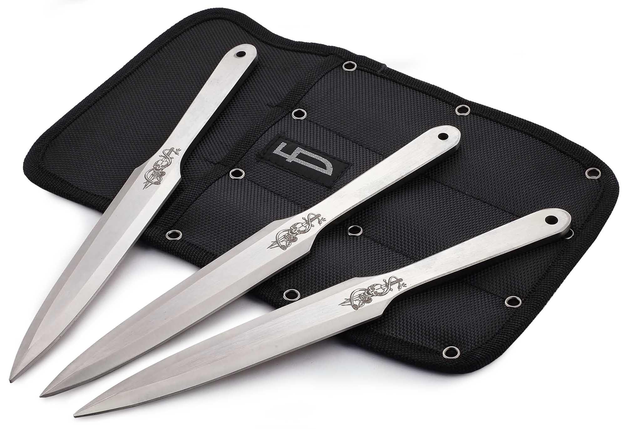Набор из 3 метательных ножей Череп, M-132SK задний диффузор axela sport для mazda 3 2013 2017