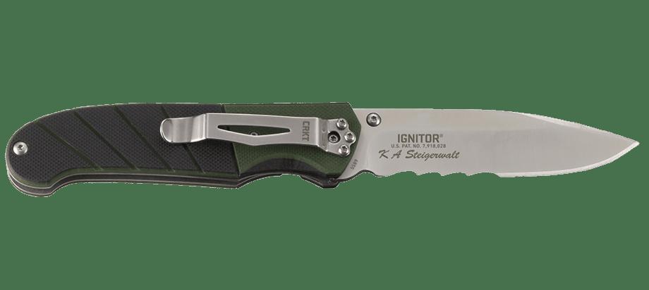Фото 13 - Полуавтоматический складной нож Ignitor Veff Serrations™, CRKT 6855, сталь 8Cr14MoV Satin Combo Edge, рукоять стеклотекстолит G10
