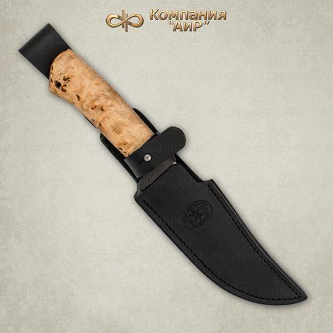 Нож АиР Клычок-1, сталь 110х18 М-ШД, рукоять карельская береза. Вид 2