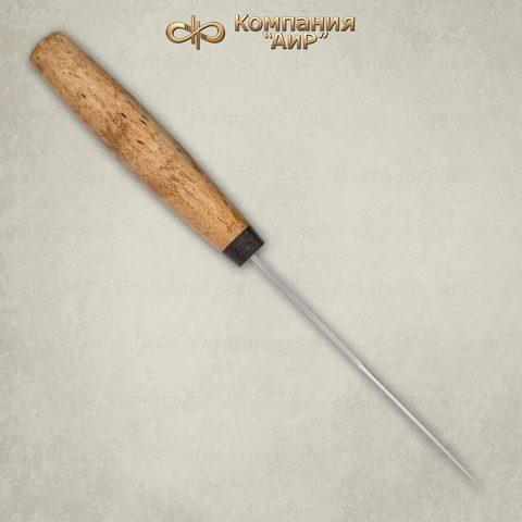 Нож АиР Клычок-1, сталь 110х18 М-ШД, рукоять карельская береза. Вид 4