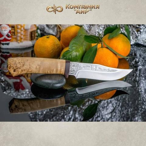 Нож АиР Клычок-1, сталь 110х18 М-ШД, рукоять карельская береза. Вид 6