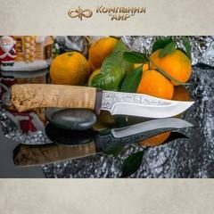 Нож АиР Клычок-1, сталь 110х18 М-ШД, рукоять карельская береза, фото 6