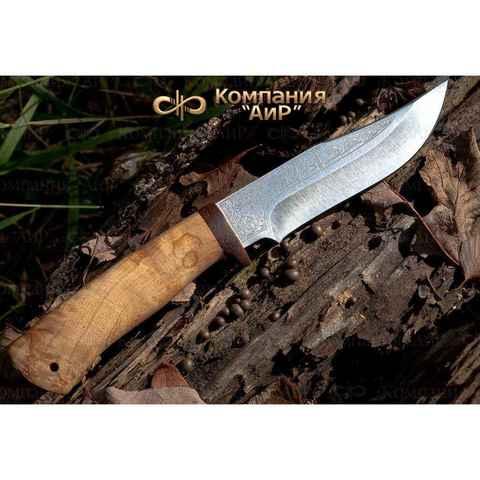 Нож АиР Клычок-1, сталь 110х18 М-ШД, рукоять карельская береза. Вид 7