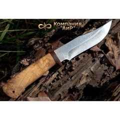 Нож АиР Клычок-1, сталь 110х18 М-ШД, рукоять карельская береза, фото 7