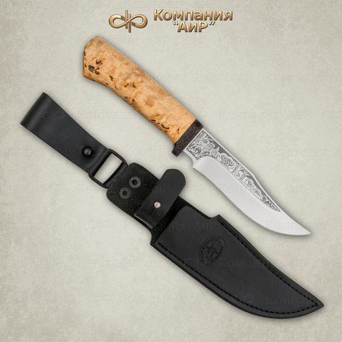 Нож АиР Клычок-1, сталь 110х18 М-ШД, рукоять карельская береза. Вид 8
