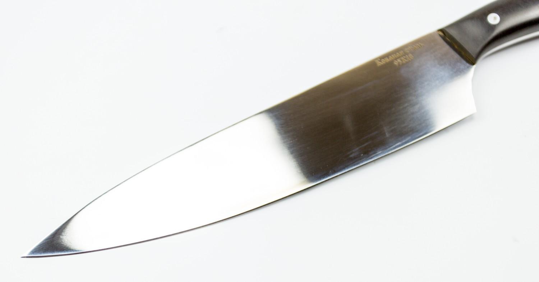 Фото 10 - Нож Гурман большой, сталь 95х18 от Кузница Коваль