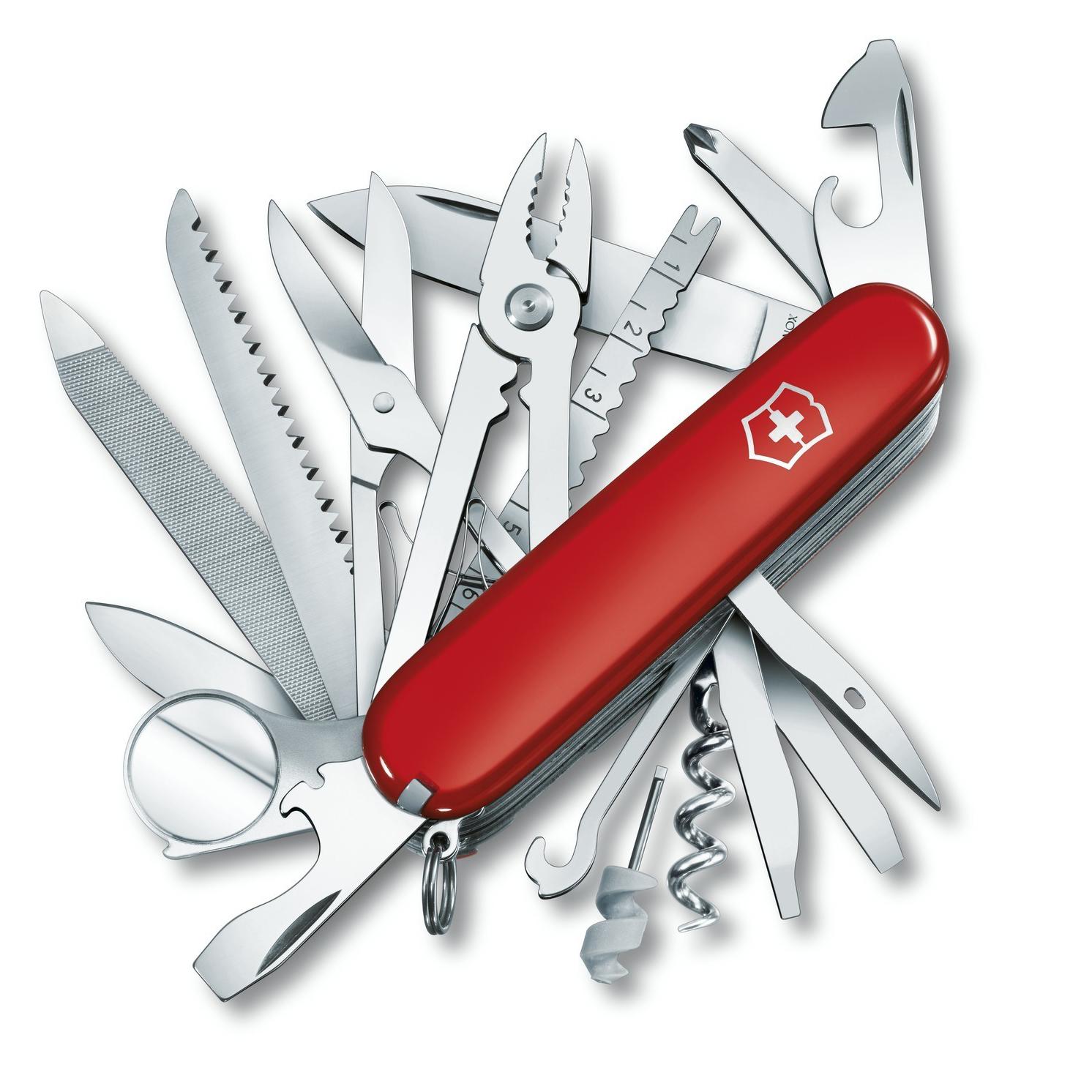 Нож перочинный Victorinox SwissChamp, сталь X55CrMo14, рукоять Cellidor®, красный