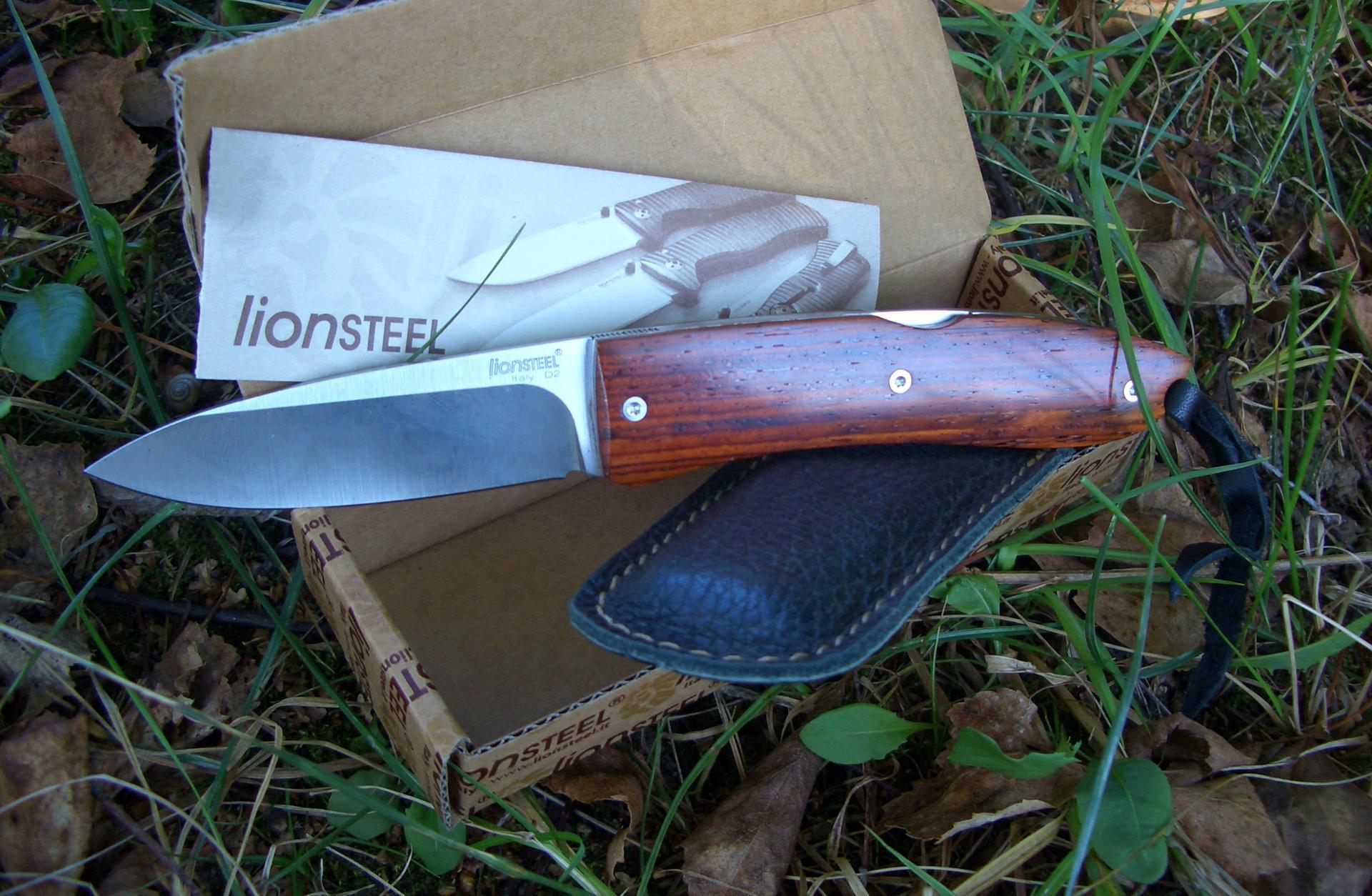 Фото 6 - Нож складной Lionsteel Big Opera 8810 ST, сталь D2, рукоять палисандр от Lion Steel
