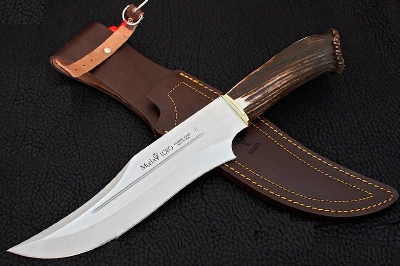 Фото 6 - Нож с фиксированным клинком Sarrio, Stag Handle 23.0 см.-2 от Muela