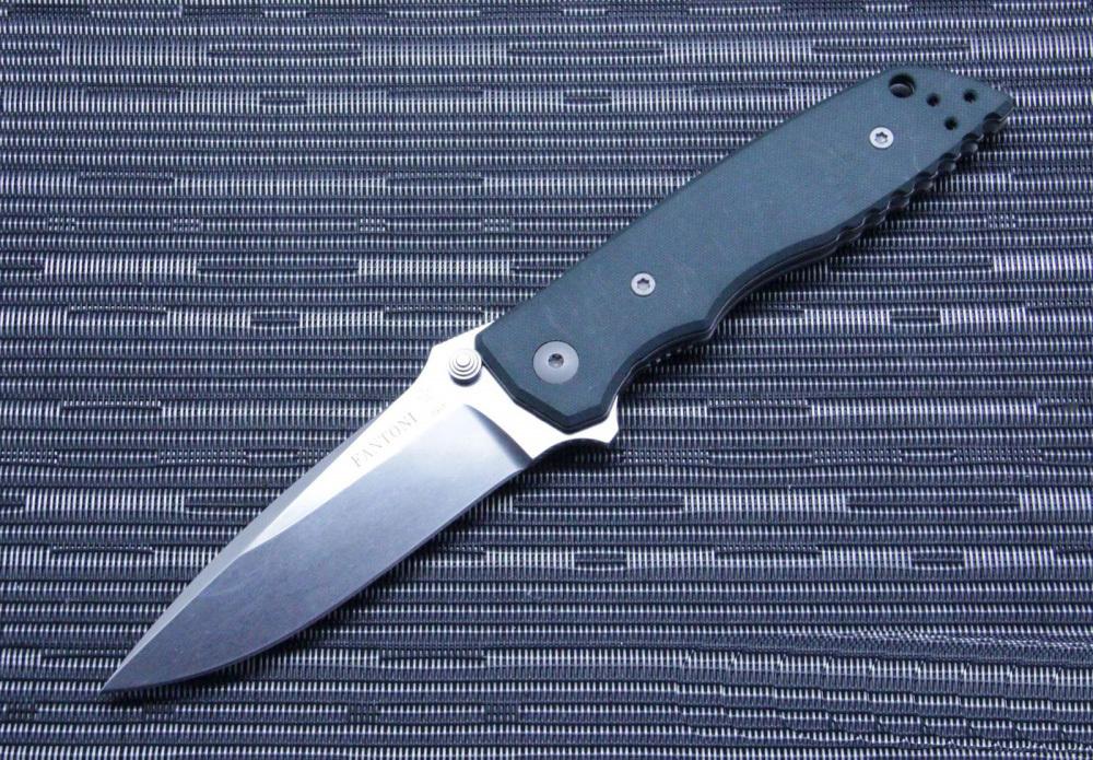 Фото 7 - Нож складной Fantoni, HB-01, William (Bill) Harsey Design, FAN/HB01SwGr, сталь CPM-S30V, рукоять стеклотекстолит G-10, Dark Green