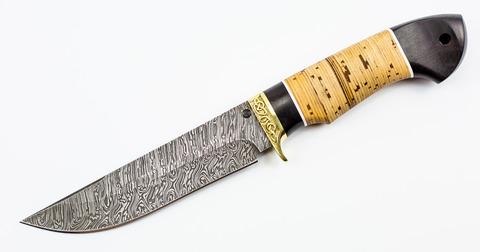 Нож Корсар, дамаск и береста - Nozhikov.ru