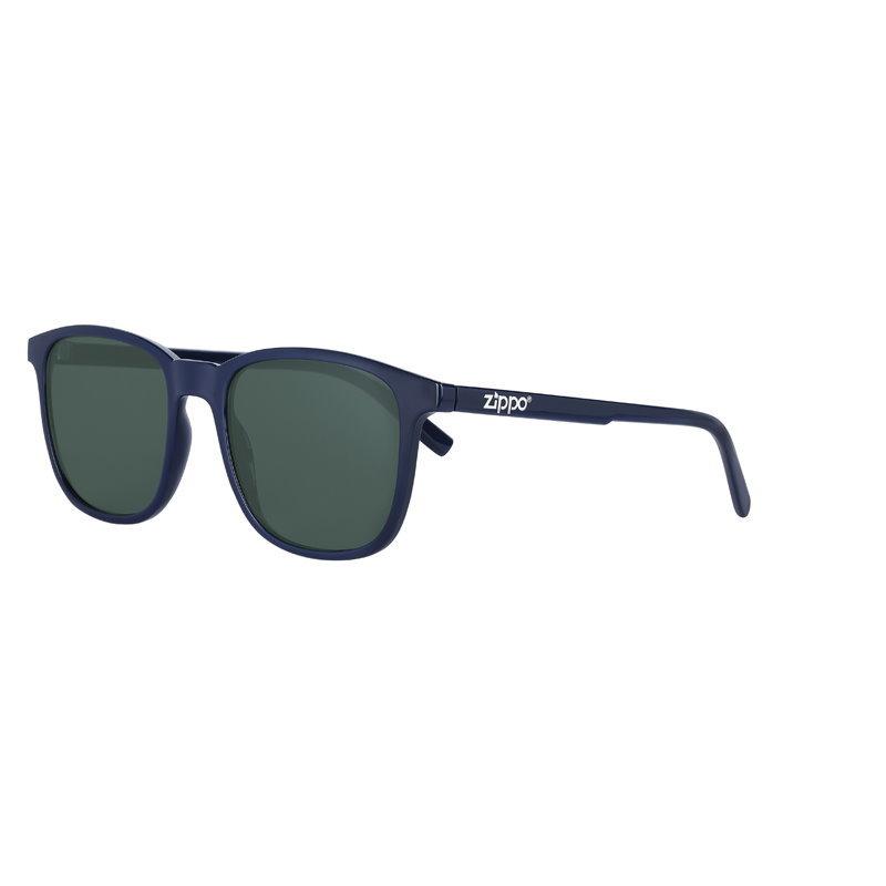 Фото - Очки солнцезащитные ZIPPO OB93-01, унисекс, синие, оправа из поликарбоната очки солнцезащитные zippo ob70 01 унисекс чёрные оправа из поликарбоната