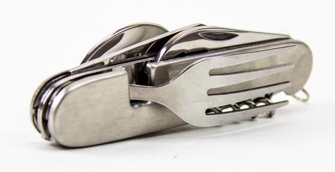 Походный нож 6-в-1, стальной - Nozhikov.ru