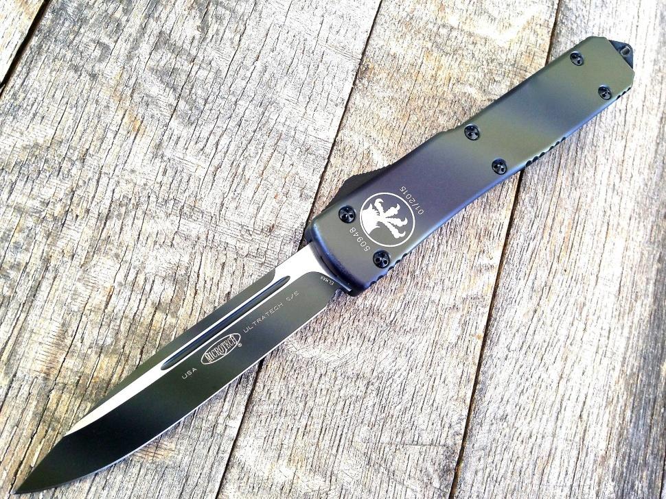 Автоматический выкидной нож Microtech Ultratech S/E MT_121-1TC, сталь Elmax, рукоять алюминий
