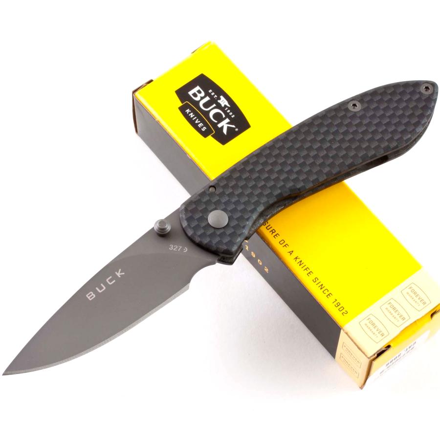 Фото 3 - Складной нож Buck Nobleman Carbon 0327CFS, сталь 440А, рукоять нержавеющая сталь