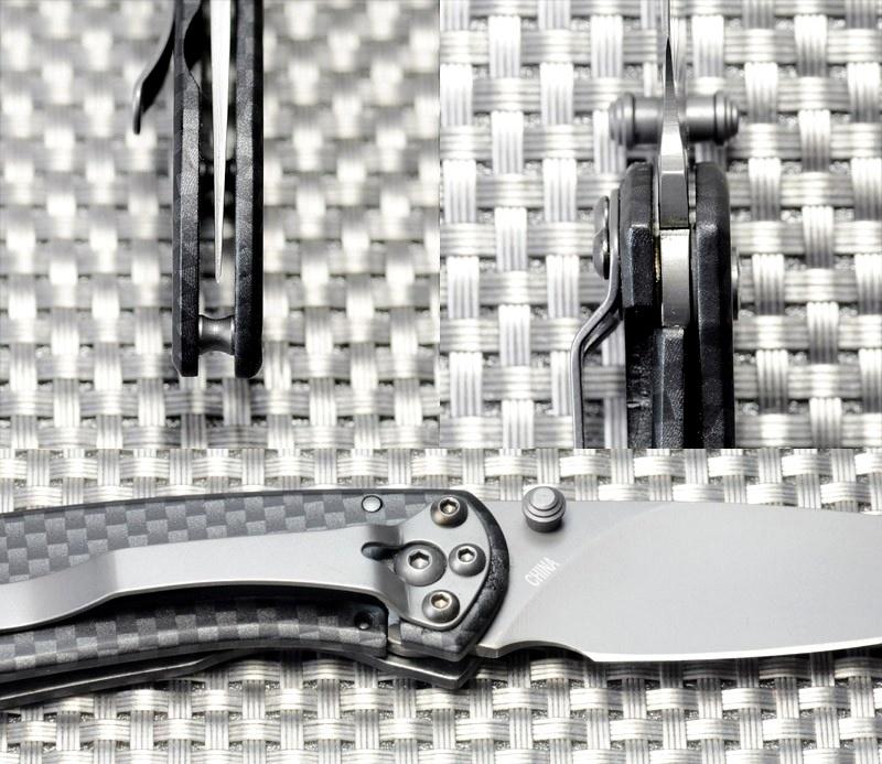 Фото 4 - Складной нож Buck Nobleman Carbon 0327CFS, сталь 440А, рукоять нержавеющая сталь