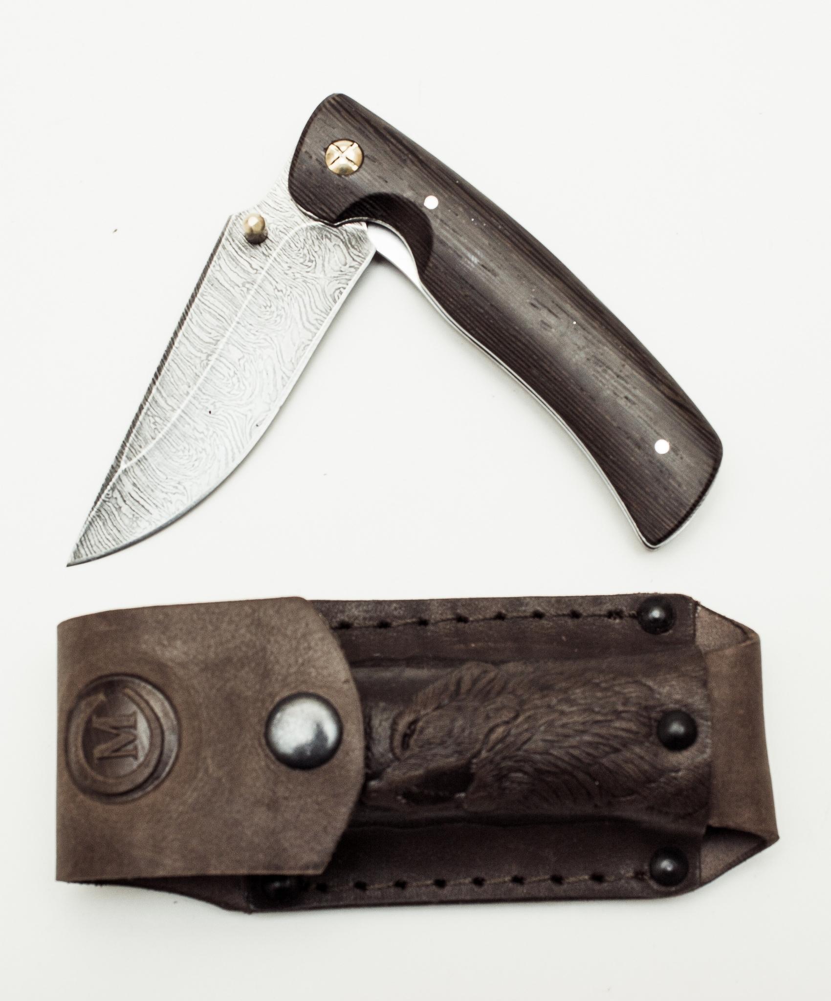 Фото 6 - Складной нож из дамаска Аляска от Кузница Семина
